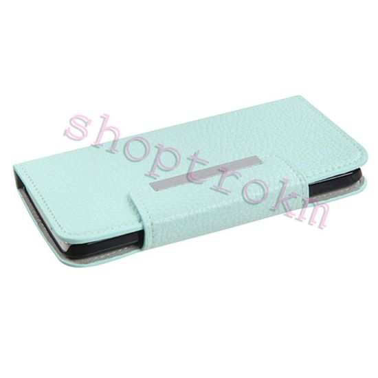 Mint leatherette wallet phone case for the HTC One M7 by ShopTrokm, $19.99