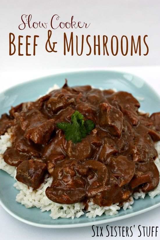 Slow Cooker Beef and Mushrooms {Freezer Meal} on MyRecipeMagic.com