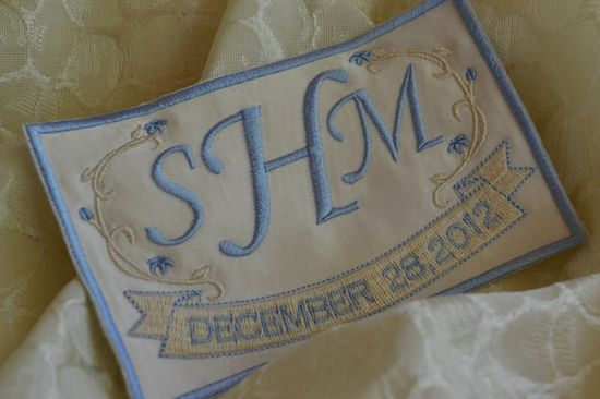 Custom Embroidered for your wedding gown