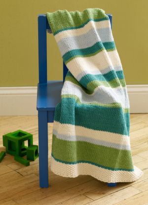 simple knitted blanket