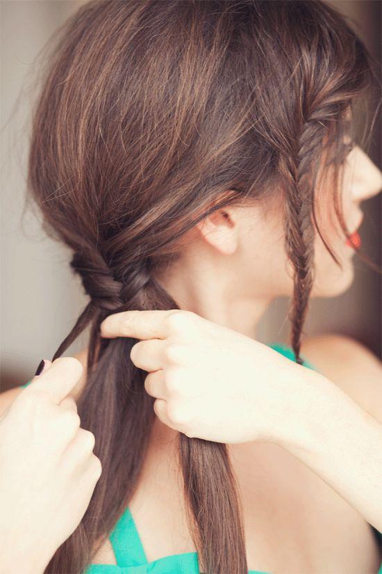 She Lets Her Hair Down: Tutorial :: Fishtail Braid
