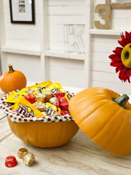 Halloween Ideas: How to Make a Pumpkin Candy Dish