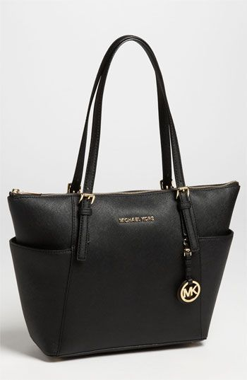 MICHAEL Michael Kors Jet Set Leather Tote available at #Nordstrom