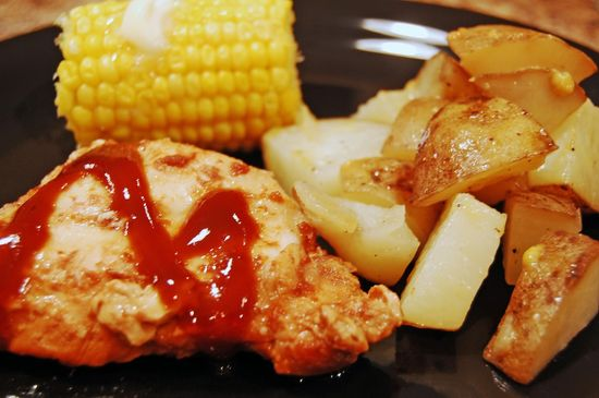 barbeque chicken dinner in slow cooker done