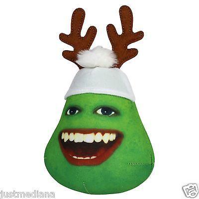 Annoying Orange Holiday Plush - Christmas Pear Reindeer - Stocking Stuffer - 4+