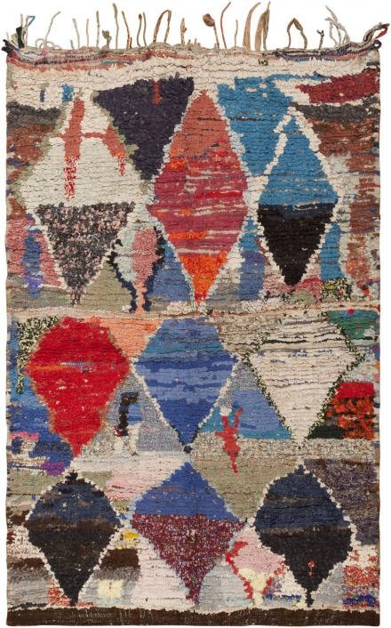 Obsessed with vintage Moroccan rugs.