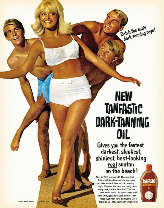 'Tanfastic' Dark-Tanning Oil, 1966