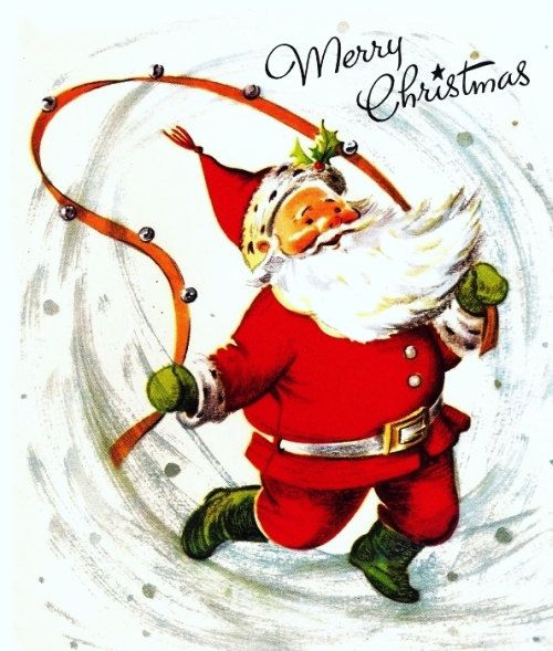 Santa Claus Vintage Christmas Card