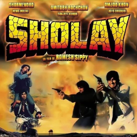 Landmark Films in the last 100 years of Bollywood:  Sholay (1975)