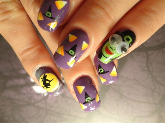 Googly Witch Inspired By Robin Moses - Nail Art Gallery by NAILS Magazine