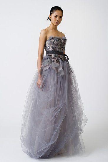 smoky violet wedding dress by Vera Wang