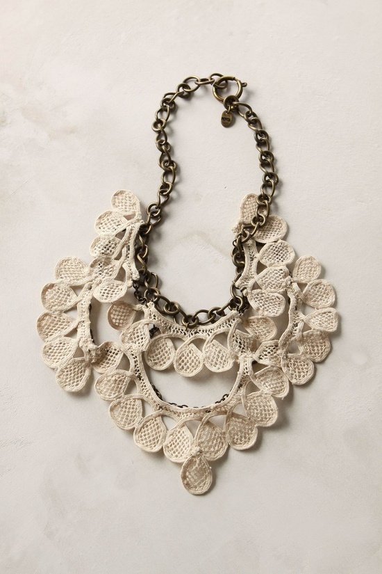 sugared lace necklace, Anthropologie