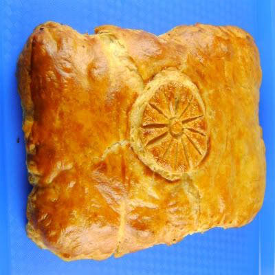 Puff Pastry Pillow with Creamy Blue Cheese Filling