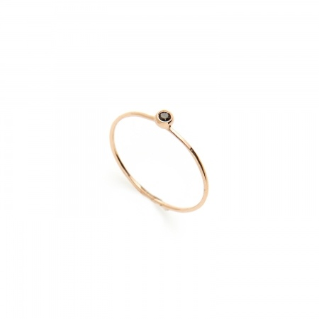 love love love love the tiny simplicity.     Black Diamond Seed Ring