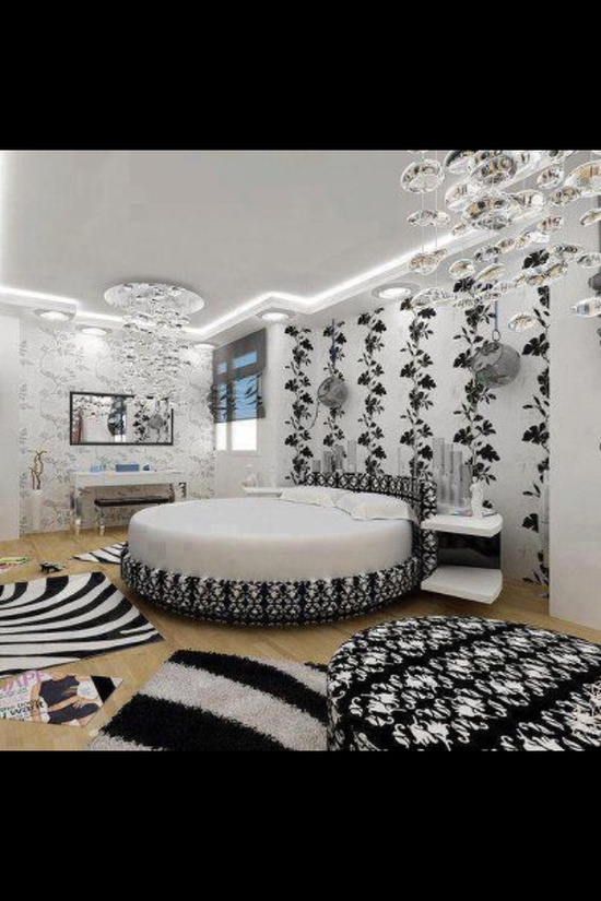 Zebra stripe bedroom