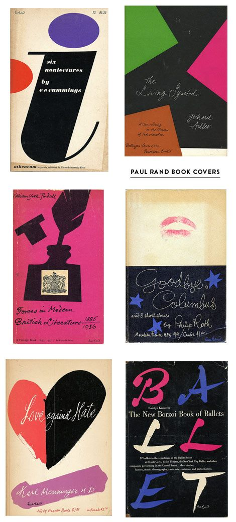 Paul Rand Book Cover Designs