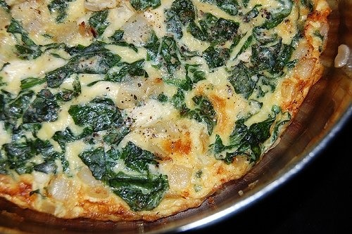 Savory spinach cheesecake