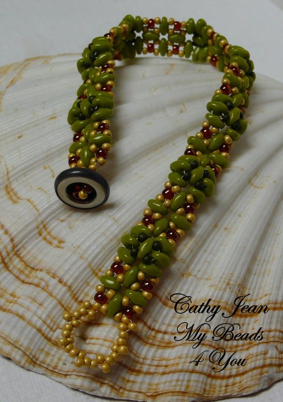 Beadwoven Bracelet Beaded Bracelet Seed Bead by mybeads4you