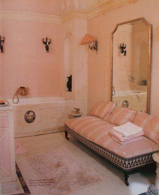 Gorgeous Vintage French Bath. Designer Madeleine Castaing.