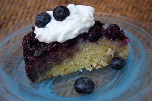 Lemon and Blueberry Upside-Down Cake