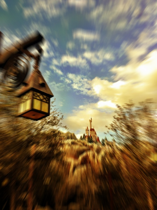 One Photo + Six Filters = Beast Castle Photo Art.  Click to see: di.sn/p2C  #WaltDisneyWorld #NewFantasyland