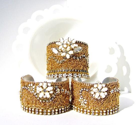 jewelry, bridal jewelry, vintage bracelet set