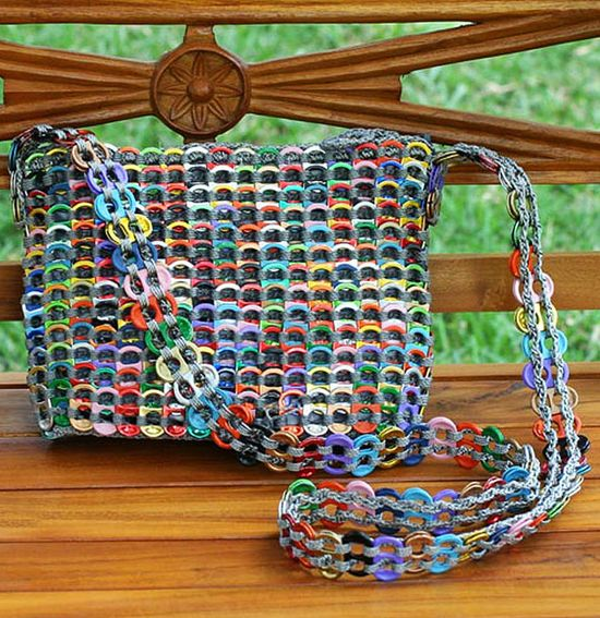 Hand Made Aluminum Recycled Shoulder #Bag