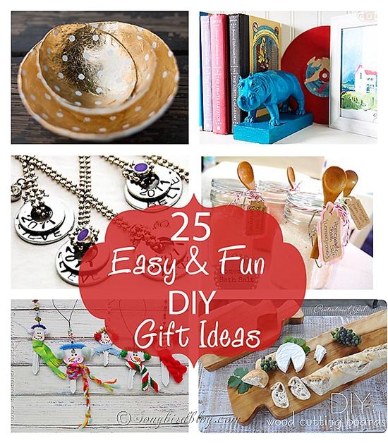 25 Fun and Easy DIY gift ideas.  www.songbirdblog.com