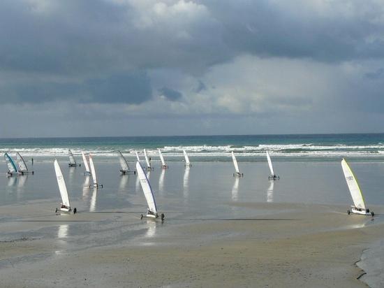 Baie d'Audierne : Plovan char à voile