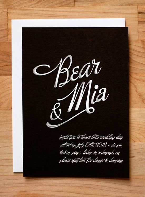 chalkboard invitation