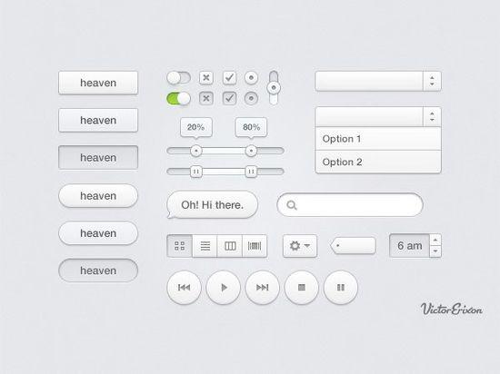 10+ Simple Web UI Design Parts Templates - Hative