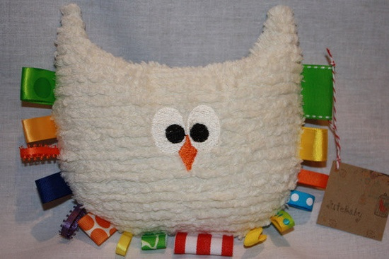 Plush owl baby toy  by JuteBaby