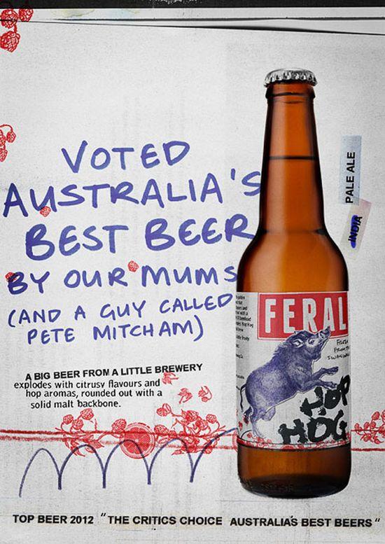 FERAL Beer #so good #advertising #print #copy