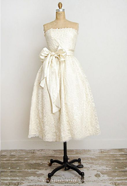 I don't think I want to go short…but if I do this is it. vintageweddingdress-3 by Adore_Vintage, via Flickr