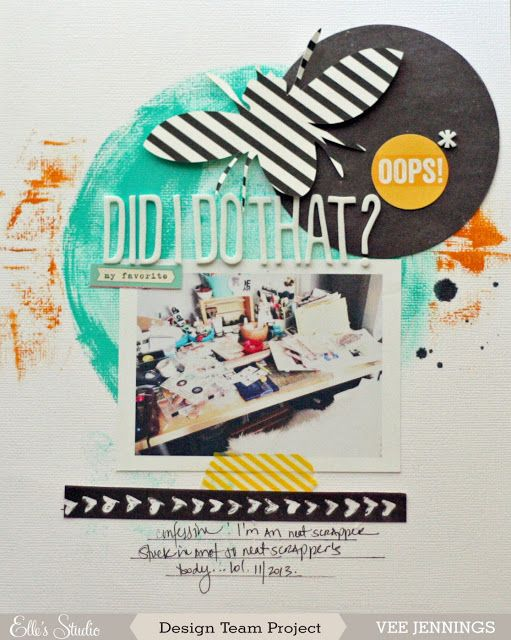 #papercraft #scrapbook #layout    oops, did i do that?