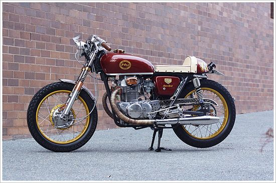 "1973 Honda CB 250 ""BrownSugar"" - Pipeburn - Purveyors of Classic Motorcycles, Cafe Racers & Custom motorbikes"