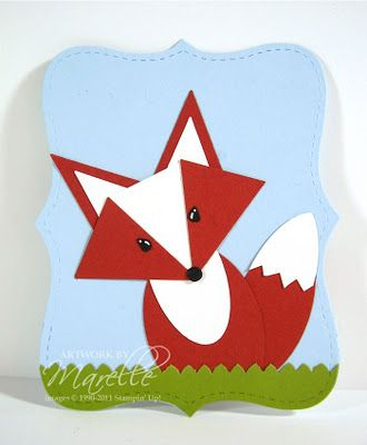 Stampin' Up!  Pennant Punch,  Marelle Taylor. FOXY!!!