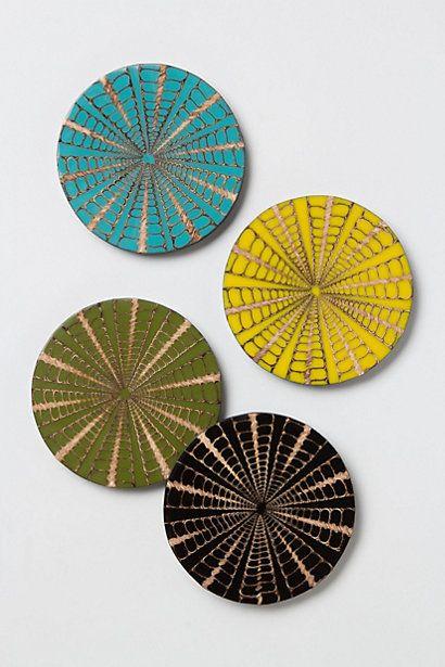 seashell umbrella coasters