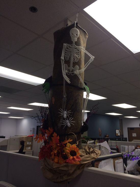 Halloween/harvest work decoration #poledecoration #halloween