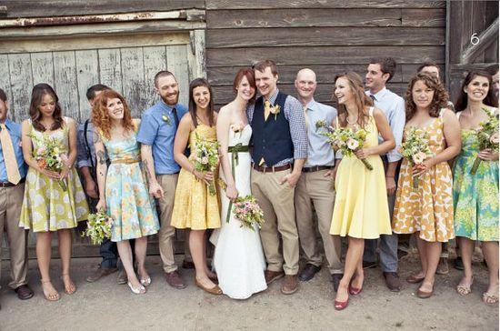 Floral Wedding Ideas - bridesmaid dresses