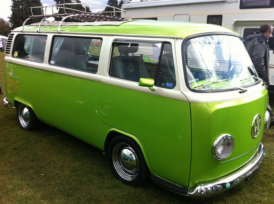 Collection old cars: Volkswagen bus