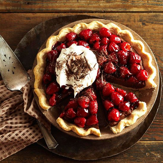 Double-Chocolate Mascarpone-Raspberry Pie