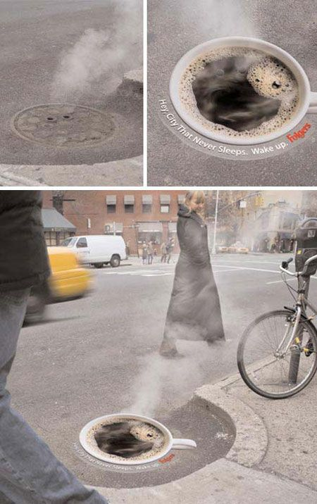 Coffee Guerrilla Marketing - Very clever!