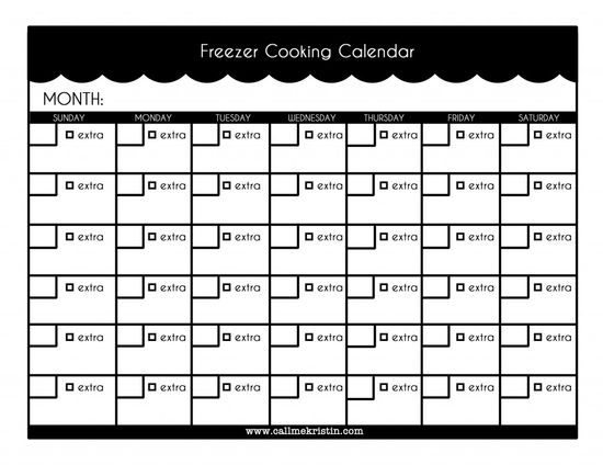 planning your freezer cooking