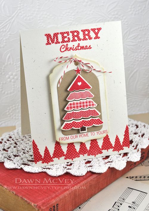 Merry Christmas Card by Dawn McVey for Papertrey Ink (October 2013)