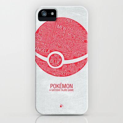 Pokemon Typography iPhone Case by Kody Christian – $35.00