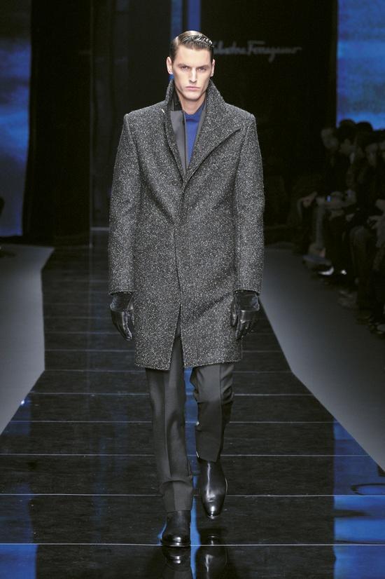 Look 1 Salvatore Ferragamo Men's AW Collection 2012-2013