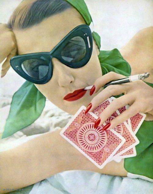 1950s fashion in sunglasses.