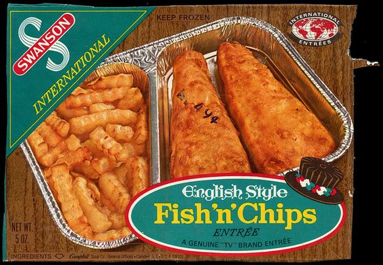 Swanson English Style Fish 'n' Chips TV Dinner - 1970's