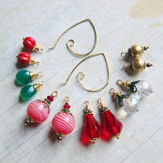 Holiday Earring Wardrobe, by sihaya09  #handmade #jewelry